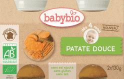 BABYBIO príkrm sladké zemiaky 2x130g