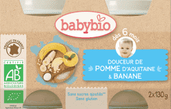 BABYBIO príkrm krém jablko banán 2x130g