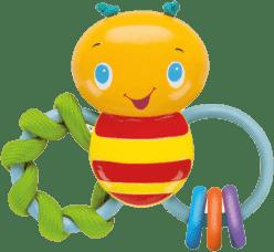BRIGHT STARTS Kousátko Chew & Rattle Bee (3m+)