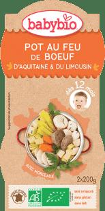 BABYBIO menu zelenina s hovädzím mäsom 2x200g
