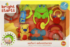 BRIGHT STARTS Prezentowy zestaw zabawek Safari Gift Set (0m+)