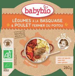 BABYBIO menu zelenina s kuracím mäsom a ryžou 260g