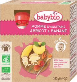 BABYBIO kapsička jablko marhuľa banán 4x90g