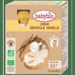BABYBIO Kapsička krém vanilka krupička 4x85g