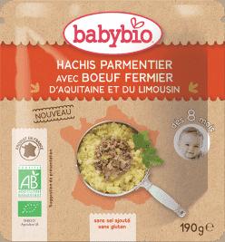 BABYBIO menu hovädzie hachis Parmentier 190g