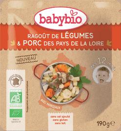 BABYBIO menu zeleninové ragoût s bravčovým mäsom 190g