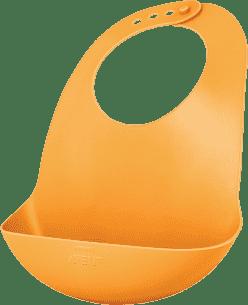 AVENT Śliniak plastikowy z kieszonką pomarańczowy