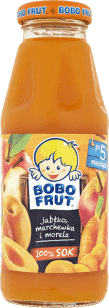 BOBO FRUT 100% sok jabłko, marchewka i morela (300ml)