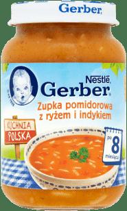 GERBER Zupka pomidorowa z ryżem i indykiem (190g)
