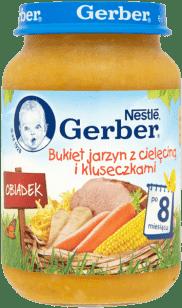 GERBER Bukiet jarzyn z cielęciną i kluseczkami (190g)