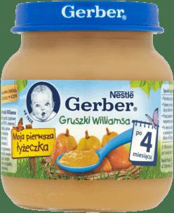 GERBER Gruszki williamsa (125g)