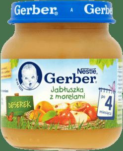 GERBER Jabłuszka z morelami (125g)