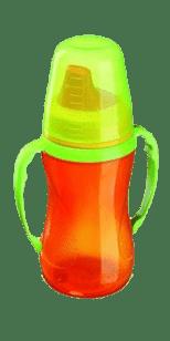 LOVI Nekapající hrníček 250ml – 12+m – oranžový