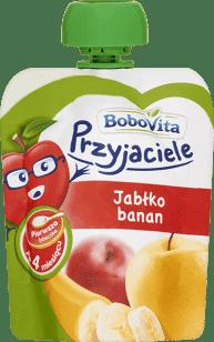 Expirace 9.6.2016: BOBOVITA Mus owocowy w tubce jabłko, banan 80 ml