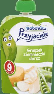 Data ważności 01.06.2016: BOBOVITA Obiadek w tubce groszek, ziemniaki, dorsz 130 G