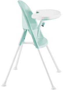BABYBJÖRN Židle vysoká s pultíkem – Light Green