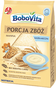 BOBOVITA Kaszka Porcja zbóż mleczna-manna (210g)