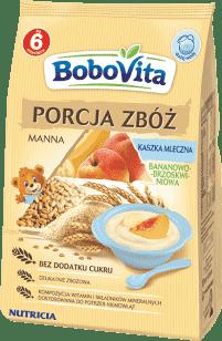 BOBOVITA Kaszka Porcja zbóż mleko-manna banan-brzoskwinia (210g)