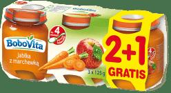 3x BOBOVITA Jabłka ze słodką marchewką (125g)