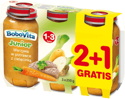 3x BOBOVITA Warzywa w potrawce z cielęcinką (250g)