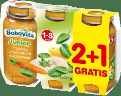 3x BOBOVITA Potrawka z kurczakiem i szpinakiem (250g)