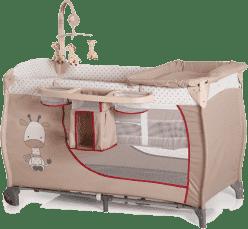 HAUCK Cestovní postýlka Babycenter Giraffe 2016