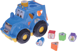 MIKRO TRADING Traktor z sorterem - niebieski