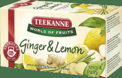 TEEKANNE Čaj Ginger Lemon (zázvor - citrón), 20 vrecúšok