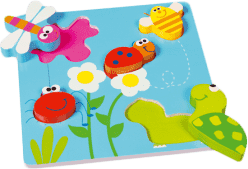 SCRATCH Vkládací puzzle Zahrádka