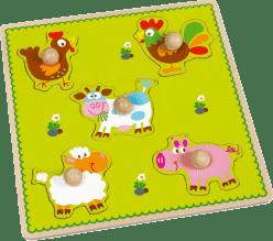 SCRATCH Układanka planszowa / puzzle Farma