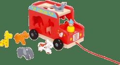SCRATCH Ciężarówka do ciągania i wkładania ze zwierzątkami