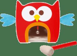 SCRATCH Drewniana zabawka do wbijania Sówka