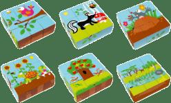 SCRATCH Drewniane klocki zwierzątka