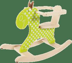 SCRATCH Dřevěný houpací kůň