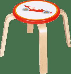 SCRATCH Drewniany dziecięcy stołeczek Formuła