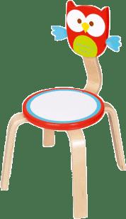 SCRATCH Drevená detská stolička Sovička