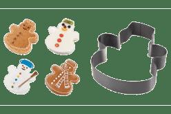 TESCOMA Forma na pečenie a vykrajovátka snehuliak DELÍCIA