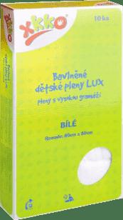 KIKKO Bawełniana pieluszka o wysokiej gramaturze Lux 80x80 (10 szt.) – biała