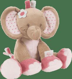 NATTOU Hračka plyšová hrkací sloník Rose 18 cm