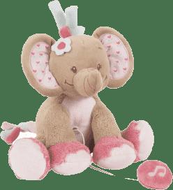 NATTOU Zabawka grająca Słonik Rose 18 cm