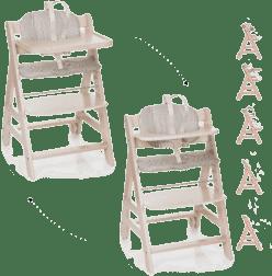 HAUCK Jedálenská stolička Beta+B whitewashed 2016