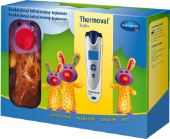 HARTMANN Thermoval baby dárkové balení – bezdotykový teploměr + hračka