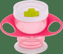 BROTHER MAX Hrneček s pítkem a oušky - růžový/zelený