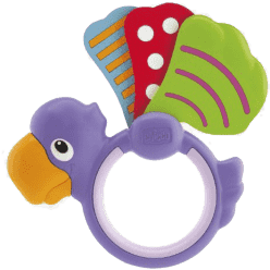 CHICCO Chrastítko papoušek křidýlko