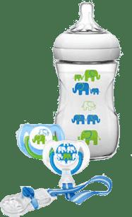 AVENT Sada Natural 260ml (PP) Slon - chlapec