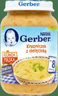 GERBER Krupniczek z cielęcinką (190g)