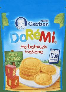 GERBER Doremi herbatniczki maślane (180g)