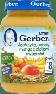 GERBER Deserek jabłuszka, banany, mango z płatkami owsianymi (190g)