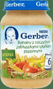 GERBER Banany z soczystymi jabłuszkami i płatkami pszennymi 190g