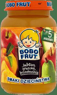 BOBO FRUT Jabłko gruszka brzoskwinia (185g)
